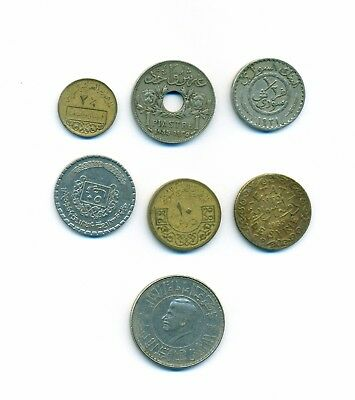 Syrian Coins 7 PCS Different  Syrian Coins Fine