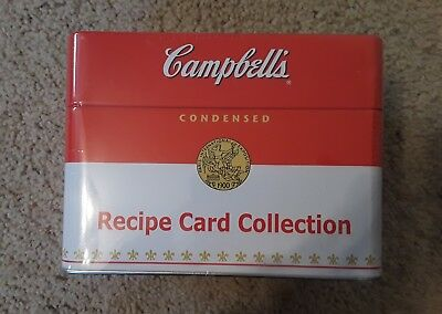 Campbell's Soup Recipe Card Collection Tin Box & Recipe Cards Kitchen Cooking  4