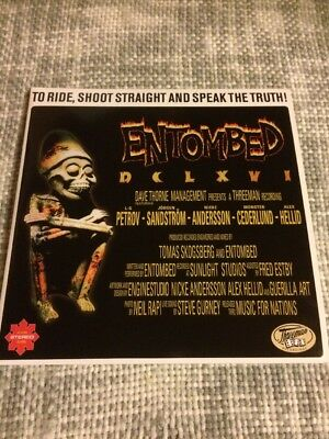 Entombed To Ride, Shoot Straight And Speak The Truth Do LP Inkl CD