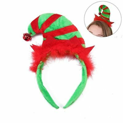 Elf Hat with Ears Headband Jingle Bells Green Red Christmas Holiday New