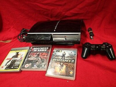Sony PlayStation 3 40GB Black Console with 3 games