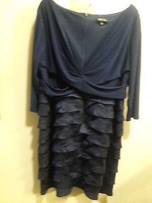 Beautiful, navy mother of the bride dress