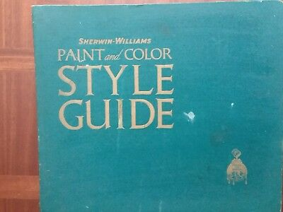 Vintage Sherwin  Williams Color & Picture Sample Book  16 X 19 Inches  1942