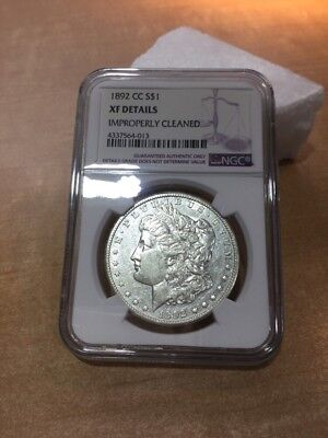 1892 CC Morgan Silver Dollar NGC XF Details (improperly Cleaned) For Auction!