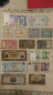 25 World Notes W.1 Autographed By Louis Tiant