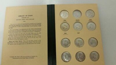 Lot of 30 1964-1969 Kennedy Half Dollars 50c 90% & 40% Silver Coin in Book
