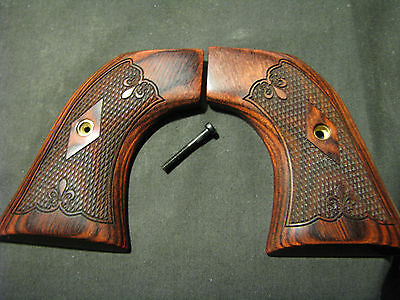 Ruger NEW MODEL BLACKHAWK / SINGLE SIX Beautiful Checkered Fine Rosewood Grips
