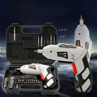 45pcs Multifunction Adjustable Charging Electric Silent Screwdriver Drill