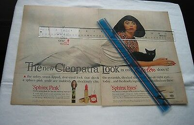 Vintage Ad 'The Revlon Cleopatra Look' inspired by Liz Taylor / Life Magazine