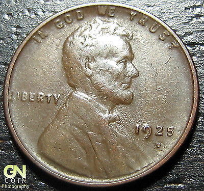 1925 D Lincoln Cent Wheat Penny  --  MAKE US AN OFFER!  #G2435