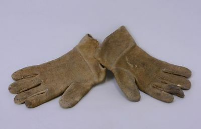 Small Antique Moose Hide Cree Gloves; early 20th Century - Cree