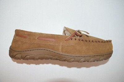 Rockport Men's Tan Moccasin Slippers Size 10