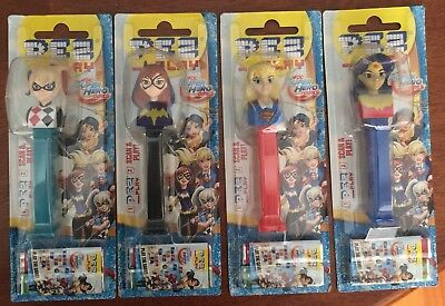 PEZ Dispenser - Set Of Four - Super Hero Girls with play codes