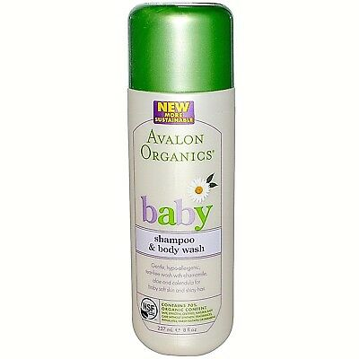 2 Avalon Organics Baby Shampoo & Body Wash + 2 Organic Nourishing Baby Lotion