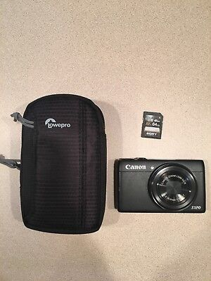 Canon PowerShot S120 12.1MP Digital Camera - Black