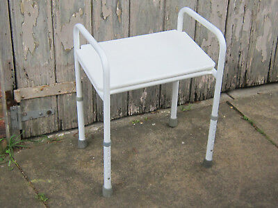 Shower Stool Seat with a pop-in Plastic seat Endeavour can freight
