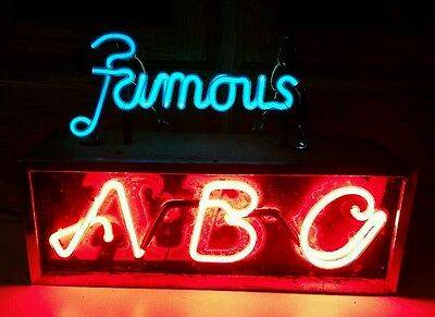"""Aztec Brewing Company Neon """"Famous ABC"""" 1930's ,  Original Rare Beer Sign"""