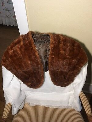 Vintage late 1920's or early 1930's Red Fox Fur Shoulder Wrap