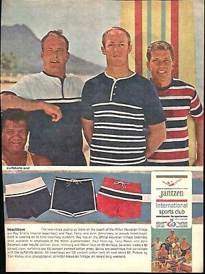 Jantzen Inc. Print Ad Paul Hornung Frank Gifford Bob Cousy Jerry West Bobby Hull