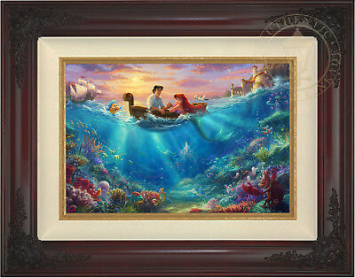 Thomas Kinkade Disney The Little Mermaid Falling in Love 12 x 18 LE S/N Canvas