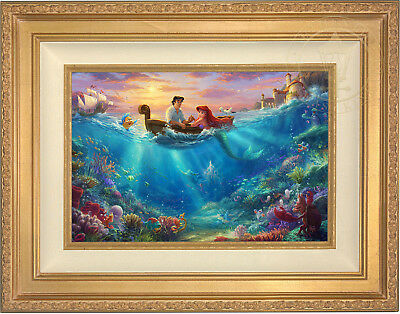 Thomas Kinkade Disney The Little Mermaid Falling in Love 12 x 18 LE G/P Canvas