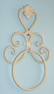 Wrought Iron Bathroom Accessories - Heart Holder Wall Towel Ring Cr Min Sec BA10