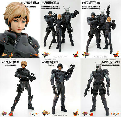 Hot Toys 1:6 Appleseed Saga Ex Machina Deunan, Briareos, Tereus Set Of 3 Figures