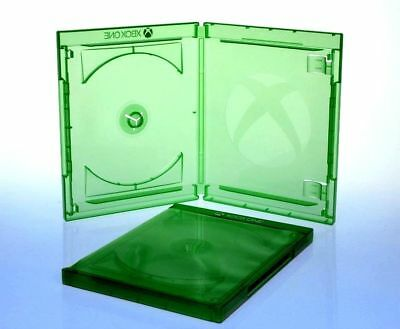 Pack de ESTUCHES SIMPLES XBOX AMARAY - BLURAY CD DVD - 12mm - VERDE TRANSPARENTE