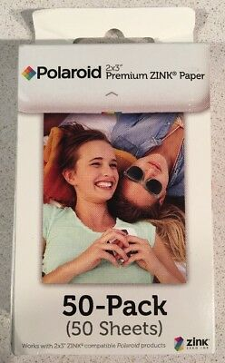 NEW GENUINE SEALED - POLAROID ZINK 50-PACK PAPER - Retail Box