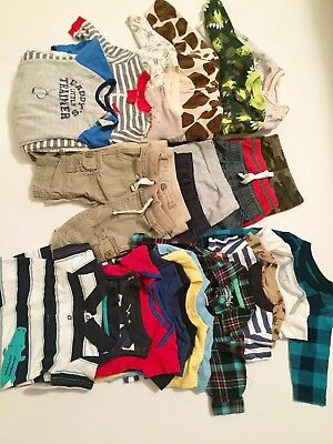 Huge Baby Boy Bundle 3-6 Months Baby Boy Clothing Lot 27 Peice