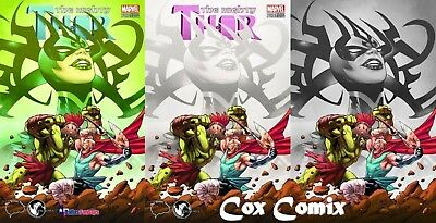 Mighty Thor #700 LAND VARIANT SET Brain Trust Unknown Marvel Comics SIGNED! Hela