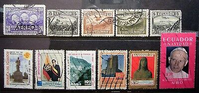 Ecuador 11 Early Used Stamps ... Great Stamps Fill Some Gaps