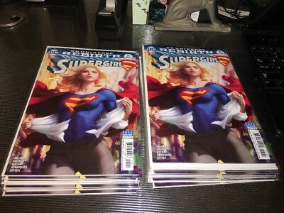 SUPERGIRL #15 VARIANT Stanley ARTGERM Lau Rebirth DC Comics NM HOT!