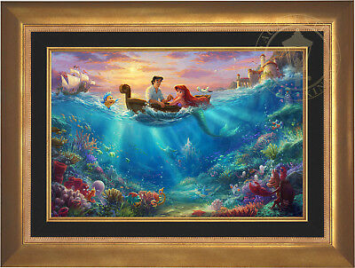 Thomas Kinkade Disney The Little Mermaid Falling in Love 18 x 27 LE S/N Canvas