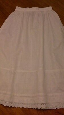Vintage original Victorian/Edwardian girls broiderie anglais petticoat