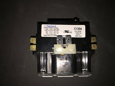 Packard C130A Contactor 1 Pole 30 Amps 24 Coil Voltage w/Free Shipping
