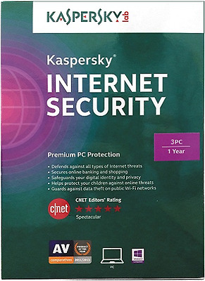 Kaspersky Internet Security 2017 3 PC 1 Year For Windows License Key