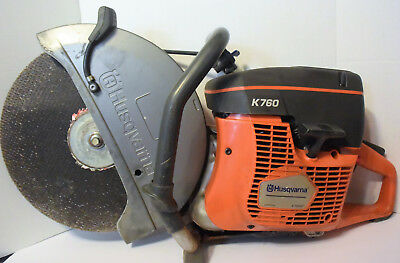 Husqvarna K760 Gas Powered Concrete Cut Off Wet/Dry Demo Saw