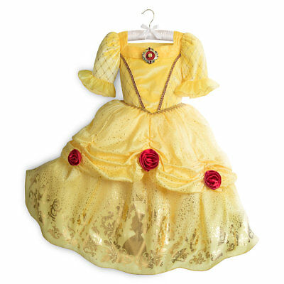 NWT Disney Store Belle Costume 4,5/6,7/8,9/10,11/12,13 Girl Beauty and the Beast
