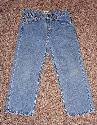 ARIZONA JEAN Boys Relaxed Fit Adjustable Waist Med Wash Jeans Size 8H 8 Husky