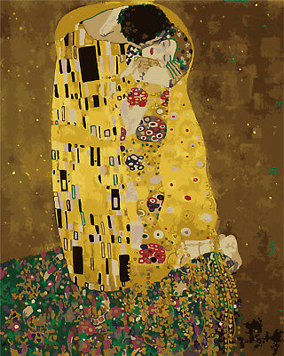 Paint by Numbers Kit 40x50cm with FRAME - The Kiss by Klimt