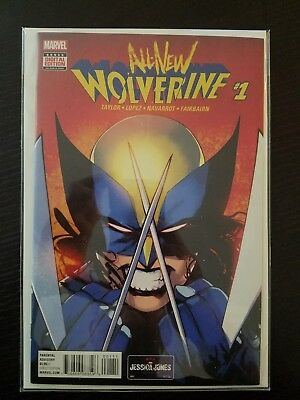 All New Wolverine #1 Standard Cover Marvel 2016 X-23 X-Men X-Force Old Man Logan