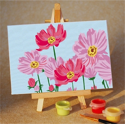 Kids Painting by Numbers Kits - 10x15cm - Pink Flowers