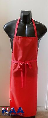 Butchers Apron Red Cleaning/Butchers/Deli 105x80cm *MADE IN KINGAROY QLD*