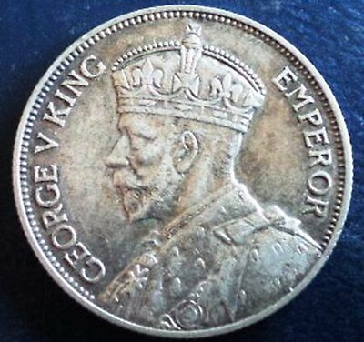 !933 NZ florin . Nice strong band on crown  nice coin