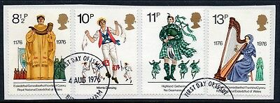 GB = 1976 Cultural Traditions set of 4. SG 1010-1013. Very Fine Used from a FDC.