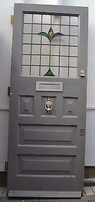 Damaged leaded light stained glass external front door. R416. DELIVERY!!!