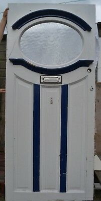 British oval (potentially stained glass) front door 1920s/30s. R598. DELIVERY!!!