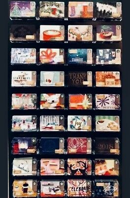 36 Starbucks Limited Edition Holiday Gift Cards 2017 Mint