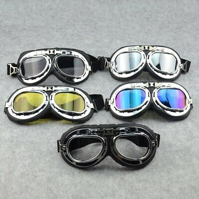 Motorcycle Goggles Retro Pilot Aviator Harley Style R1200 Bike Glasses Scooter
